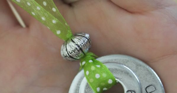 DIY washer necklaces - use bigger washers and it would make a