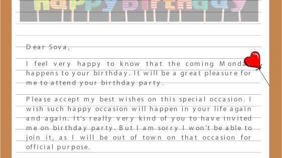 Here We Provide All Types Birthday Letter Sample Format