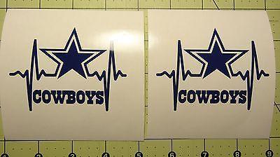 Dallas Cowboys With Name Choice Vinyl Decal Car Truck Window Decal Texas sticker