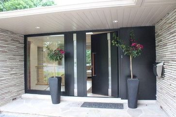 Pin By Lauren Martin On Garden Space Modern Entrance Door House Entrance Contemporary Front Doors