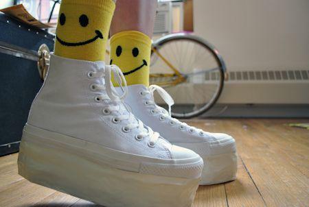 Krazy Diy Platform Shoes Bubble Goth Teddy Bear Kawaii Shoes