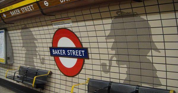Baker Street Tube Station With Sherlock Holmes London, England   travel  