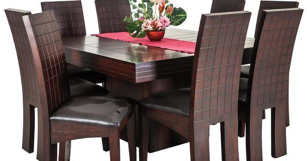 Comedor Milano 8 Sillas Color Cherry Mesa Cuadrada Muebles Pinterest Environment