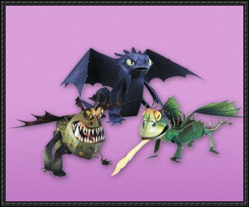 Three 3d Dragon Paper Crafts Free Download How Train Your Dragon How To Train Your Dragon Paper Crafts
