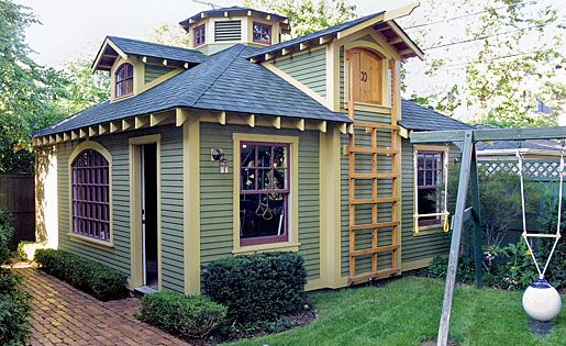 Sheds With Style Playhouse And Storage In An Old Garage