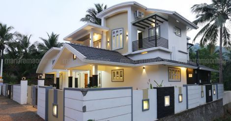 Most Modern 4 Bedroom Kerala Style House Elevation Design 2900 Sq Ft 4 Bedroom House Plans Kerala Sty Kerala House Design Model House Plan Modern House Design