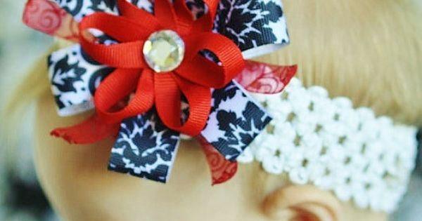 baby girl hair bow... infant ribbon flower Clip ... infant headband. ..