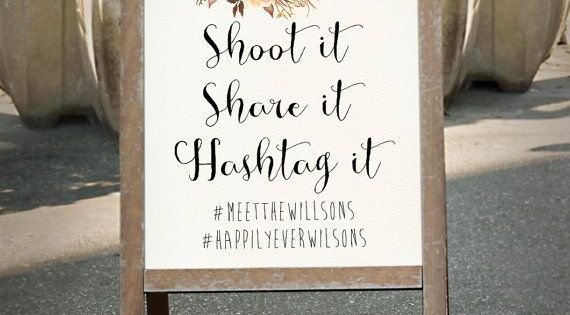 Wedding Hashtag Wedding Instagram Sign Shoot It Share It Etsy Instagram Wedding Sign Wedding Hashtag Instagram Sign