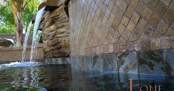 stacked stone waterfall travertine - photo #13