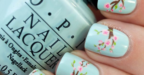 Cherry Blossom Nail Art - I wish I was that talented! Nails