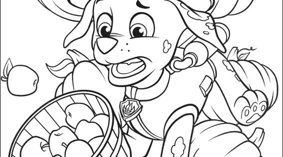 Paw Patrol Thanksgiving Coloring Pages To Print : Marshall thanksgiving paw patrol coloring page zac