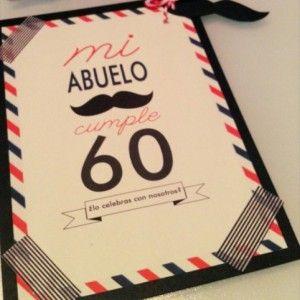 Invitación 60 Cumpleaños Cumpleaños 60 Cumpleaños