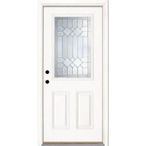 Feather River Doors 33 5 In X 81 625 In Mission Pointe Zinc 1 2