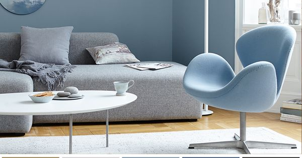Alpina Wandfarbe Feine Farben 2 5 L Ruhe Des Nordens No 14 Stilles Graublau Matt In 2020 Blaue Wandfarbe Zimmer Farben Wandfarbe Wohnzimmer
