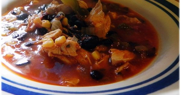 Chicken Tortilla Soup: 2cups of the shredded chicken (left over from crock-pot