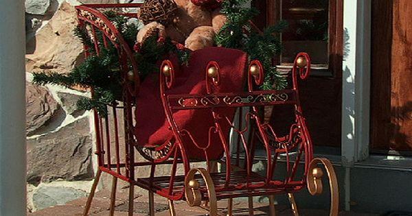 Plow Amp Hearth 24 Quot Indoor Outdoor Metal Decorative Sleigh