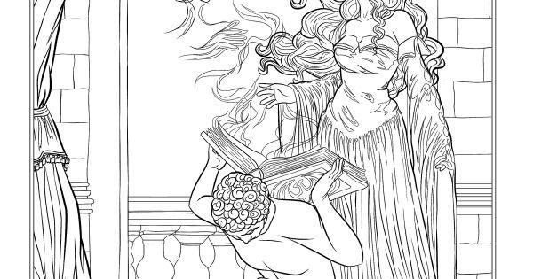 dark fantasy coloring pages - photo#17