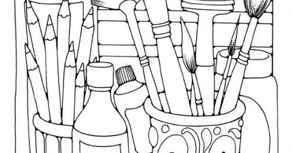 free art supply coloring pages | FREE Hundreds of coloring pages with a wide variety of ...