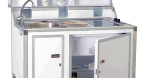 pro art kitcase kofferk che mit k hlschrank wei mobile k chen minik chen k chenm bel. Black Bedroom Furniture Sets. Home Design Ideas