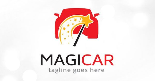 Magic Car Logo Template Design – great for automotive, technology, develop, agency