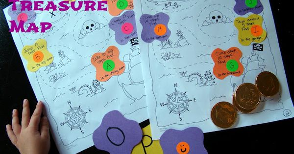 Preschool Treasure Maps: Reading Activity