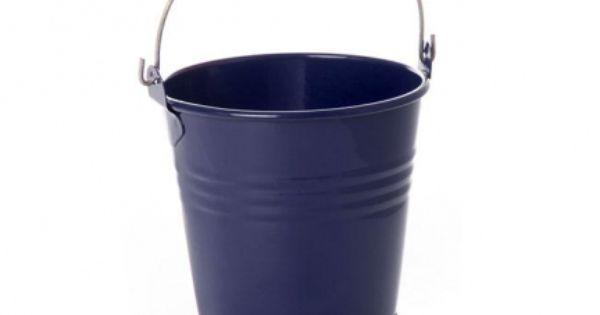 Tin Bucket Bambino Dark Blue 8dx7cmh Z148db Tin Buckets Bucket Tin