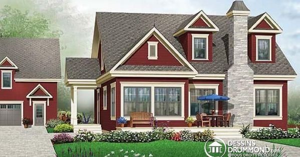 W3514 maison de style campagnard avec vue panoramique 3 for Maison eplans