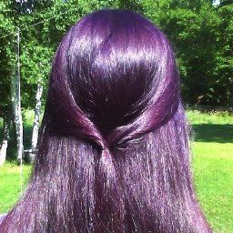 After Removing The Foil I Used An Old School Bonnet Style Hair Dryer For 30 Min Read More Semi Permanent Hair Color Bright Hair Colors Hair Color Purple