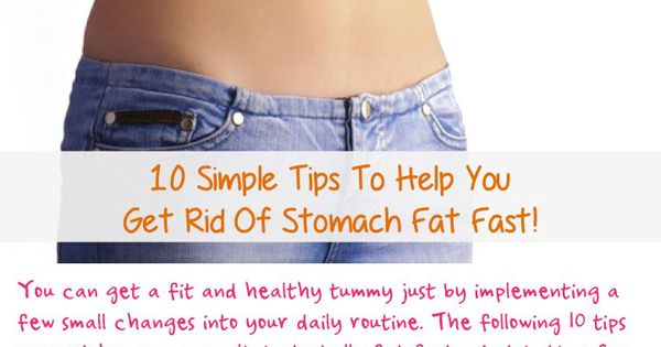 how to cut stomach fat fast