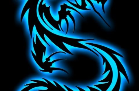 neon dragon by 4rt fu7y on. Black Bedroom Furniture Sets. Home Design Ideas