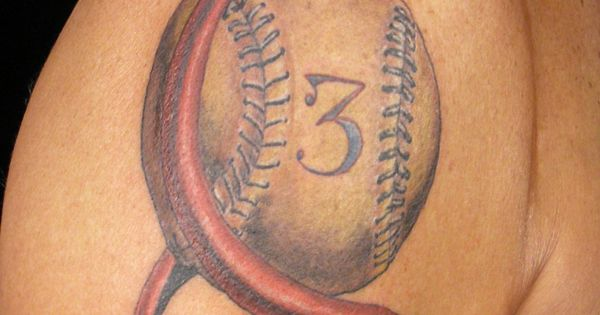 Cancer ribbon tattoos baseball or insert other sport for Baseball stitch tattoo