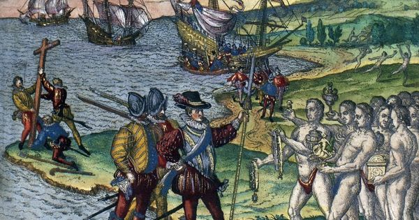 christopher columbus writes about meet indians