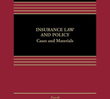 Ebooks Insurance Law And Policy Cases And Materials Aspen Casebook Pdf Free Download Read Books Online Insurance