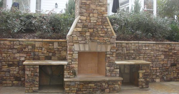 outdoor fireplace braselton ga this one is made of