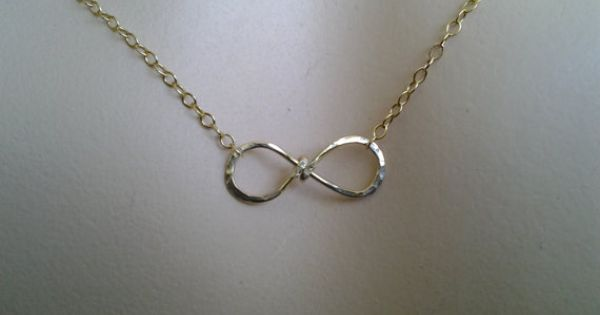 Infinity charm Necklace, i'll love you forever, best ...