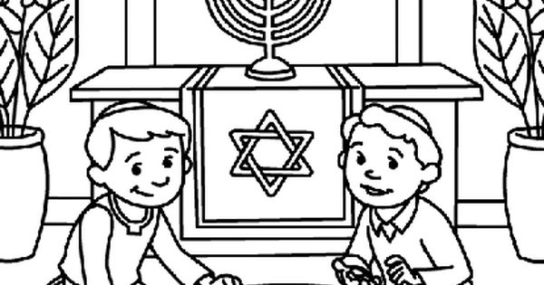 printable coloring pages maccabees | Dreidel, dreidel, dreidel! Use your favorite Crayola ...