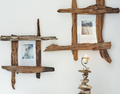 creative ideas for simple diy driftwood frames art driftwood pinterest foto muren. Black Bedroom Furniture Sets. Home Design Ideas