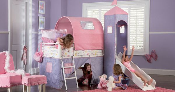 Princess Castle Twin-Size Tent Bed & Slide