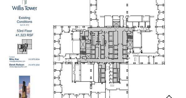 Willis Tower Floor Plans - Chicago, IL. USA.