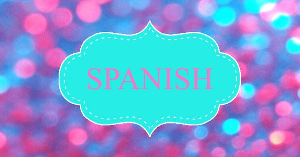 glitter spanish binder cover