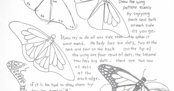 Tuto comment dessiner un papillon et si j 39 apprenais dessiner pinterest papillon monarque - Comment dessiner un papillon ...