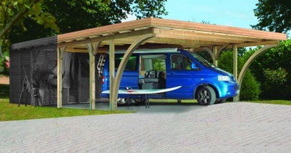 Carport En Epicea Pour 2 Voitures De 30 72 M Modele Premium Double Dimensions 598 X 480 X 239 Cm Ce Carport Prem Ports De Voiture Carport Bois Voiture