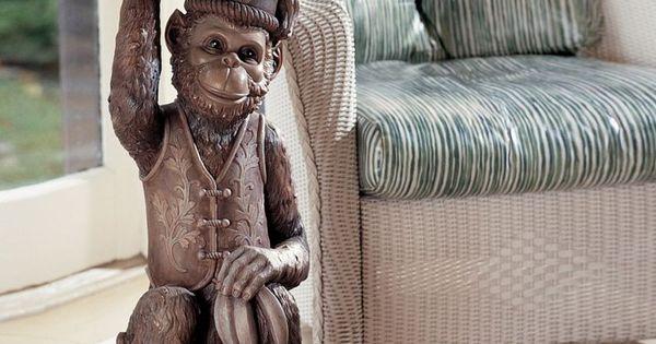 Design Toscano Moroccan Monkey Butler Pedestal Atgstores