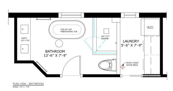 Bathroom/laundry Combo Remodeling Design