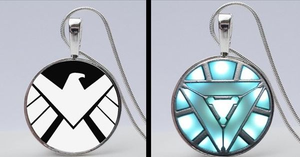 Show you are a true Avengers Fan by wearing a cool Avengers Shield Necklace. Or give a perfect gift for an Avengers fanatic! Explore all our necklaces on our website. Here's the link to earrings www.girlpowercard...