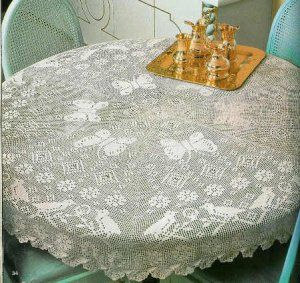 Free Crochet Vintage Table Cloth Patterns Round Crochet Tablecloth Patterns Crochet For