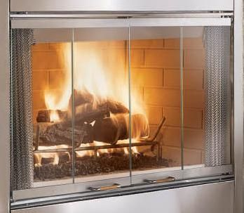 Ask A Fireplace Specialist Whether You Own A Stainless Steel Fireplace Or The Most Technologically Adva With Images Glass Fireplace Fireplace Doors Fireplace Glass Doors