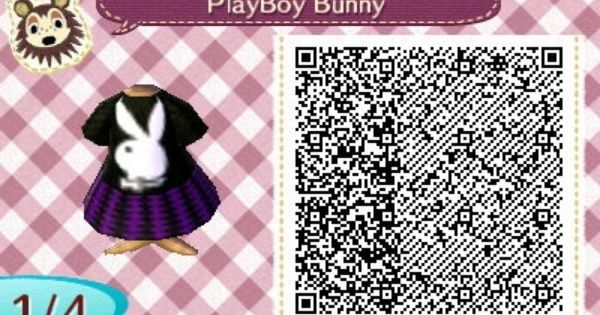 My playboy bunny dress i made on animal crossing qr code 1 animal