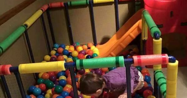 Pvc Pipe Ball Pit For Kids Diy Baby Pinterest Ball