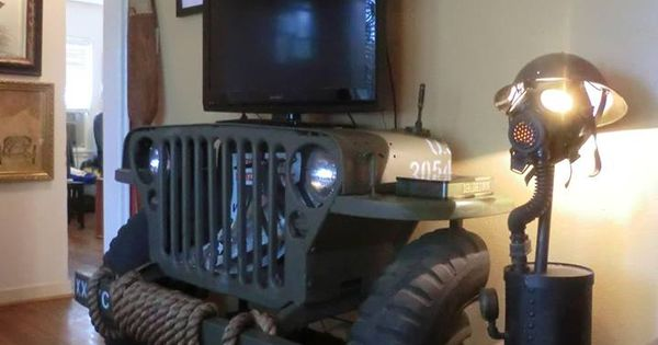 Ford Man Cave Decor : Jeep furniture for man cave wwii entertainment
